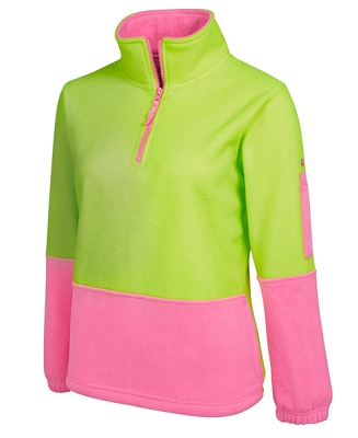JB'S HI VIS LADIES 1/2 ZIP POLAR