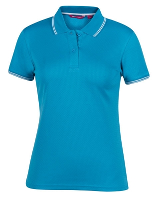 PODIUM LADIES JACQUARD CONTRAST POLO, From 13.18