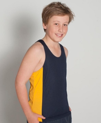 PODIUM KIDS CONTRAST SINGLET, From 6.68