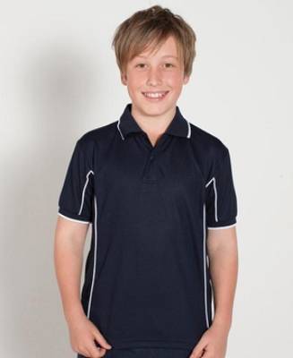 PODIUM KIDS Short Sleeve PIPING POLO