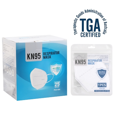 KN95 Face Mask - TGA Approved (Ordered in box lots of 25)