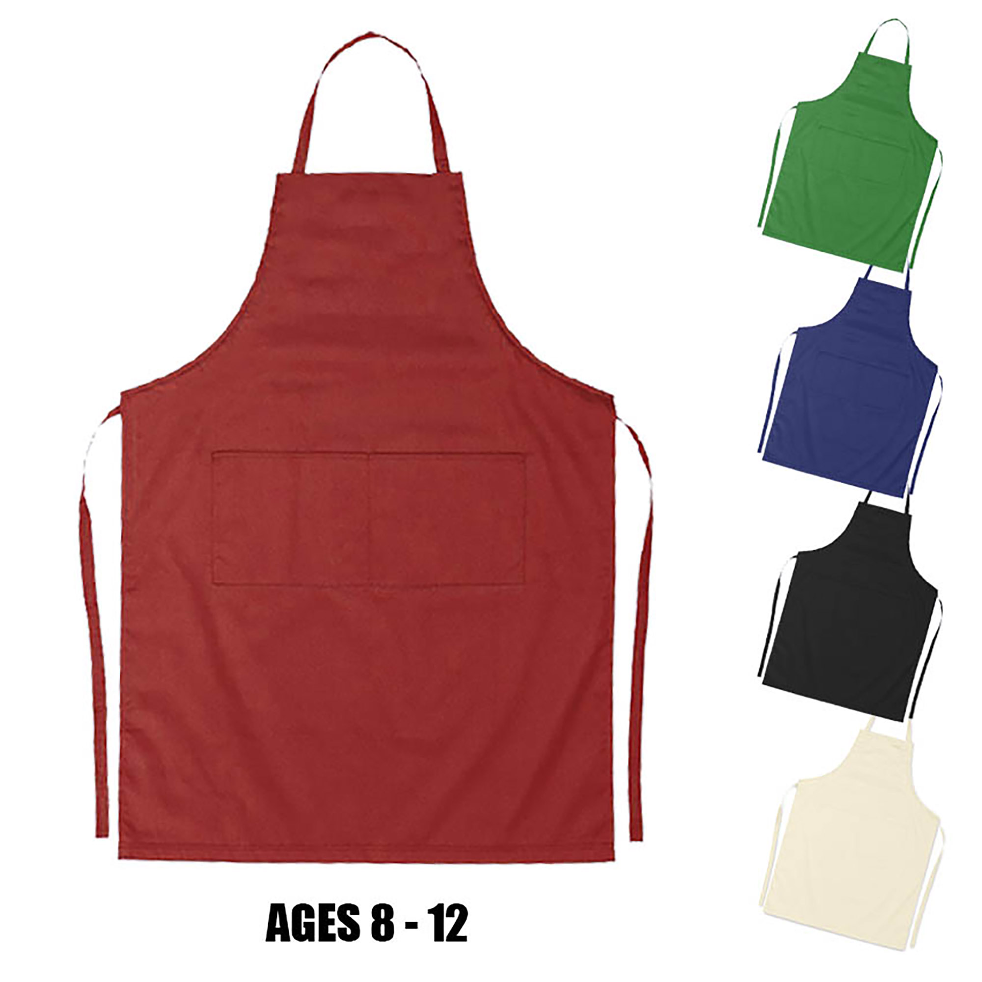 JUNIOR COTTON APRON (age: 8-12) - 1 Colour Print