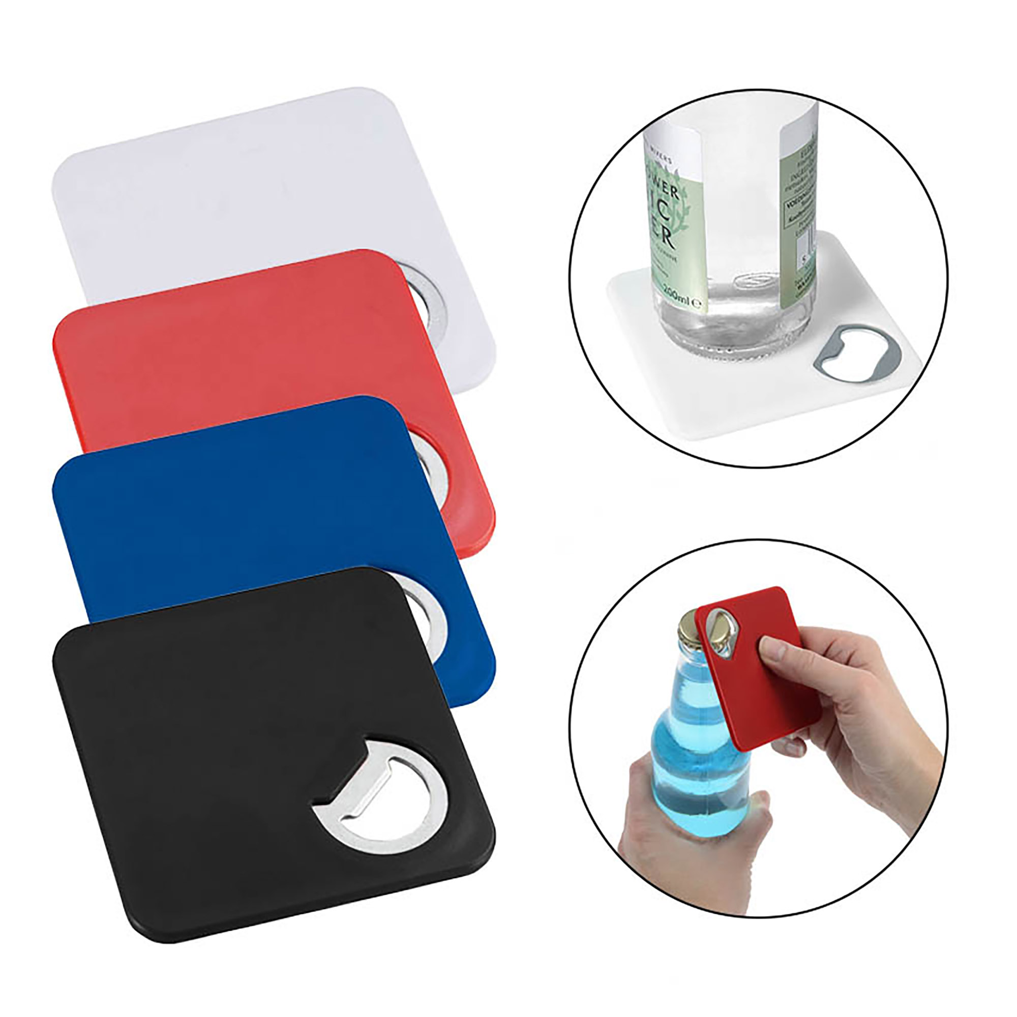 BOTTLE OPENER COASTER - 1 Colour Print, From $0.89