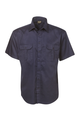 Cotton Drill Work Shirt Short Sleeve