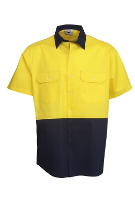 190g Hi Vis Drill Shirts, S/S,  Day Use