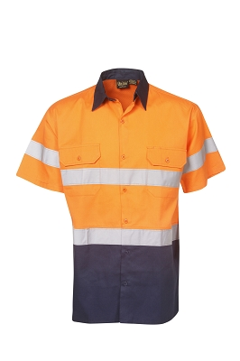 155g Hi Vis Drill Shirts, S/S,  D/N Use