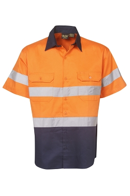 190g Hi Vis Drill Shirts, S/S,  D/N Use