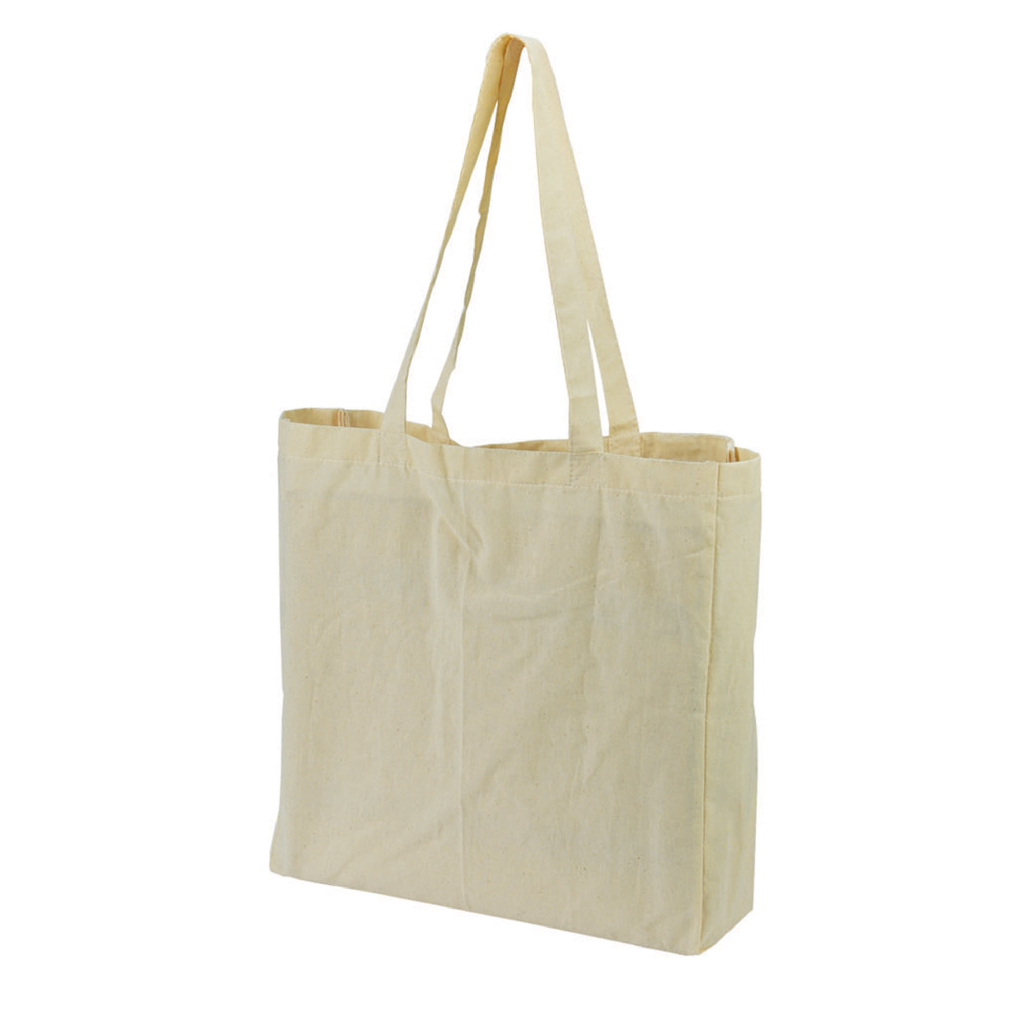 CALICO BAG WITH GUSSET - 1 Colour Print, From $1.99