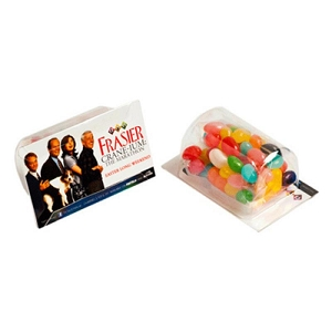 Biz Card Treats with Jelly Beans 50G (Corporate Colours) - Business Card Supplied By Customer, From $1.74