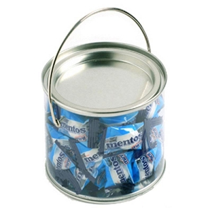 Medium PVC Bucket Filled with Mentos X 60 170G - Includes Colour Sticker on bucket