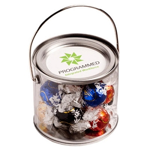 Medium PVC Bucket Filled with Lindt Lindor Balls X 14 - Includes Colour Sticker on bucket, From $15.8