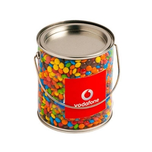 Big PVC Bucket Filled with M&Ms 850G - Includes Colour Sticker on bucket