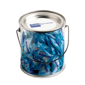 Big PVC Bucket Filled with Mentos 350G (Approx. 125 Lollies) - Includes Colour Sticker on bucket, From $13.2