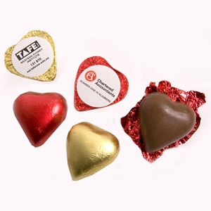 Chocoalte Heart 7G (Red or Gold Heart) - Includes Colour Sticker, From $0.47