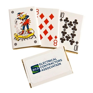 Chocolate Playing Cards Bulk - Includes Colour Sticker, From $0.83