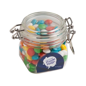 Chewy Fruits (Skittle Look Alike) in Canister 200G - Includes 1 Colour Pad Print, From $5.96