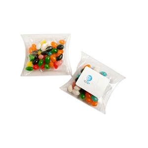 Jelly Beans in Pillow Pack 50G (Mixed Colours or Corporate Colours) - Includes Colour Sticker  on Pillow Pack, From $1.59
