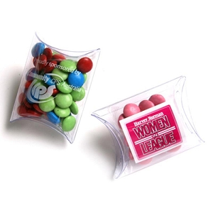Choc Beans in PVC Pillow Pack 25G (Corporate Colours) - Includes Colour Sticker, From $1.76