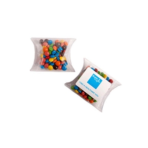 Mini M&Ms in PVC Pillow Pack 25G (Mixed Colours Only) - Includes Colour Sticker