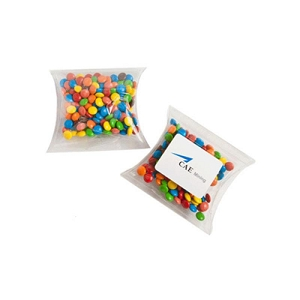 Mini M&Ms in PVC Pillow Pack 50G (Mixed Colours Only) - Includes Colour Sticker  on Pillow Pack