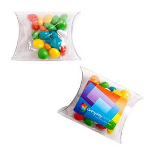 Chewy Fruits (Skittle Look Alike) in PVC Pillow Pack 25G - Includes Colour Sticker