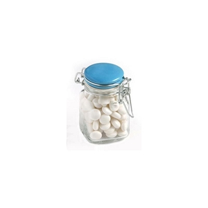 Mints in Glass Clip Lock Jar 80G - Includes Pad Print, From $3.01