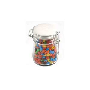 Mini M&Ms in Glass Clip Lock Jar 160G - Includes Pad Print