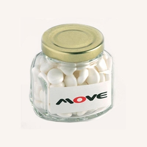 Mints in Glass Squexagonal Jar 90G - Includes Colour Sticker, From $2.79
