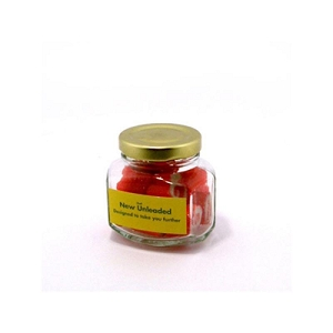 Rock Candy in Squexagonal Jar 65G - Includes Colour Sticker, From $5.26