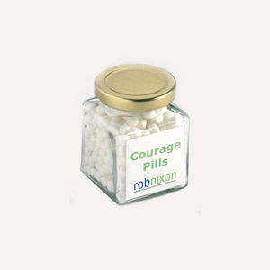 Mints in Glass Sqaure Jar 170G - Includes Colour Sticker, From $4.42