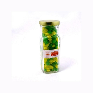 Corporate Coloured Humbugs in Glass Tall Jar 180G - Includes Colour Sticker, From $4.03
