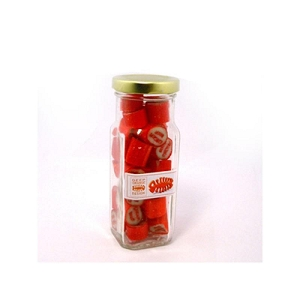 Rock Candy in Glass Tall Jar 150G - Includes Colour Sticker