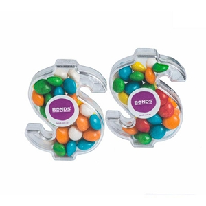 Acrylic Dollar Filled with Chewy Fruits 40G - Includes Colour Sticker
