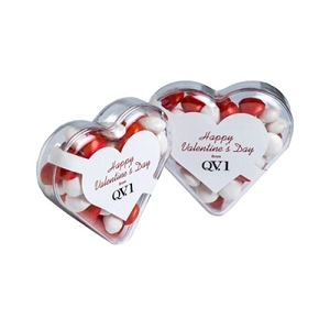 Acrylic Heart Filled with Chewy Fruits 50G - Includes 1 Colour Pad Print, From $2.62
