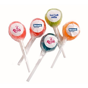 Ball Lollipop with Sticker (Corporate Colours) - Includes Unbranded , From $0.38