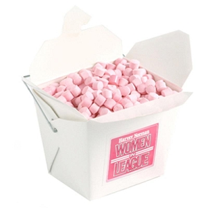 White Cardboard Noodle Box with Mints or Musks 100G - Includes Colour Sticker, From $2.58
