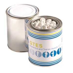 Paint Tin Filled with Mints 250G - Includes Printed Wrapper, From $5.48