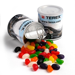 Jelly Beans in Pull Can 200G (Mixed Colours or Corporate Colours) - Includes Printed Wrapper, From $4.47