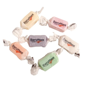 Twist Wrapped Minty Chew or Fruity Chew in Paper Wrapper (Like A Mintie Wrapper) - Includes 2 SPOT colours Cost per 100 units, From $8.84