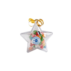Acrylic Stars Filled with Jelly Beans 50G - Includes Colour Sticker