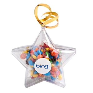 Acrylic Stars Filled with M&Ms 50G - Includes Colour Sticker
