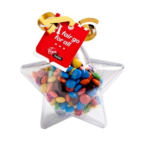 Acrylic Stars Filled with M&Ms 50G - Includes Tag, From $3.3