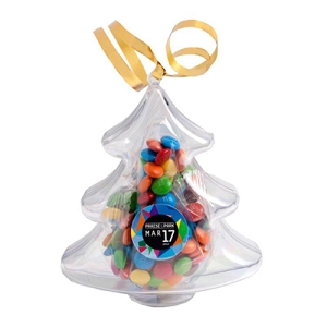 Acrylic Trees Filled with M&Ms 50G - Includes Colour Sticker