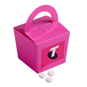 Coloured Noodle Box Filled with Mints 100G - Includes Colour Sticker