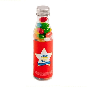Jelly Beans in Soda Bottle 100G (Corp Coloured or Mixed Coloured Jelly Beans) - Includes Colour Sticker, From $2.41