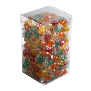 Big PVC Box Filled with Twist Wrapped Boiled Lollies 2Kg - Includes Colour Sticker, From $16.9