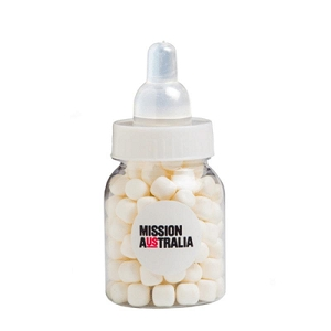 Baby Bottle Filled with Mints 50G - Includes Colour Sticker