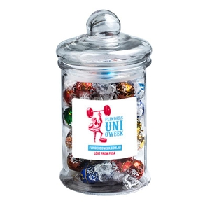 Big Apothecary Jar Filled with Lindt Balls X40 - Includes Colour Sticker on Jar, From $40.6