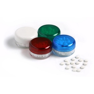 Small Screw Cap Jar (White, Blue, Red Lids) - Includes Colour Sticker Price per Unit, From $1.35