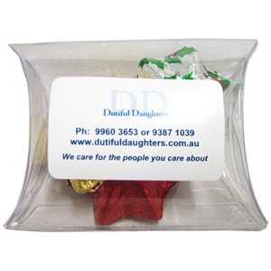 Pillow Pack Filled with Christmas Chocolates 25G - Includes Colour Sticker, From $2.1